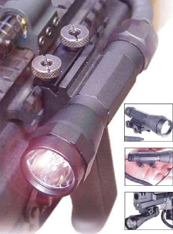 UTG Full Metal Combat Flashlight with Integral Mount & Pressure Switch.