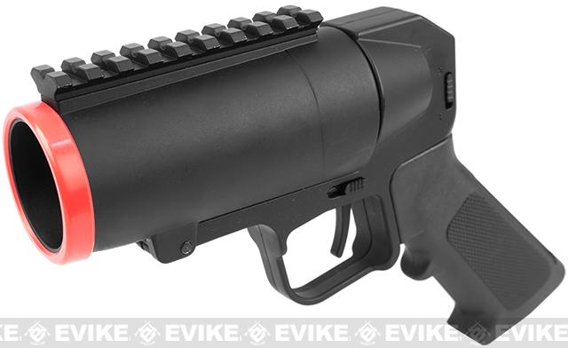 S-Thunder Universal Airsoft 40mm Grenade Launcher Pistol (Version: Short Barrel with Rail)