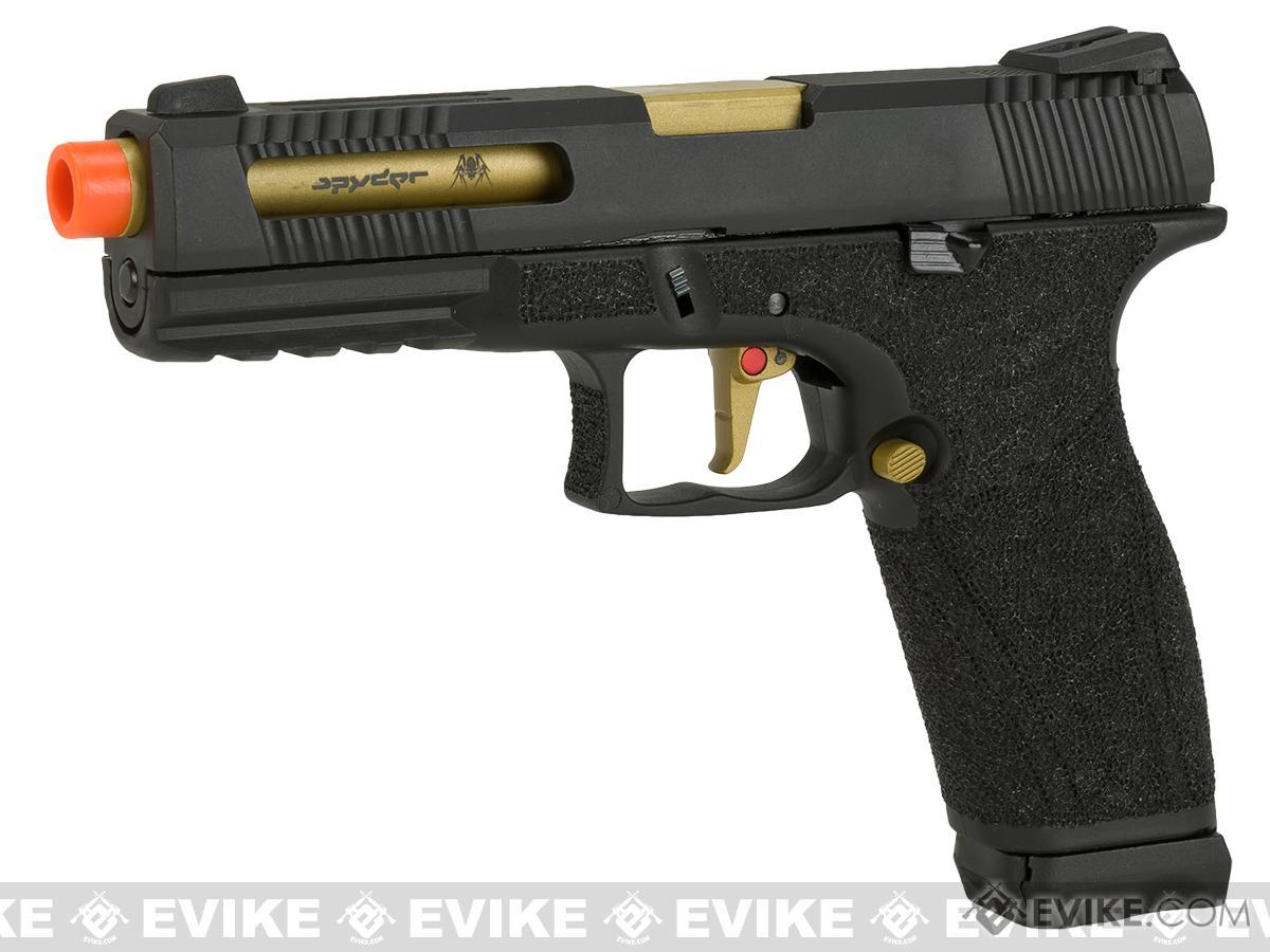 APS X-CAP Spyder Combat Adaptive Pistol CO2 Powered Airsoft Blowback Pistol - Black (D-Mod Version)