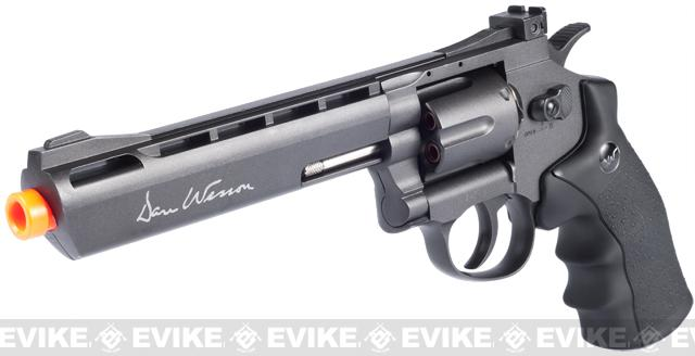 Pre-Order ETA September 2021 ASG Licensed Dan Wesson WG CO2 Full Metal  High Power Airsoft 6mm Magnum Gas Revolver (Length: 6 / Black)
