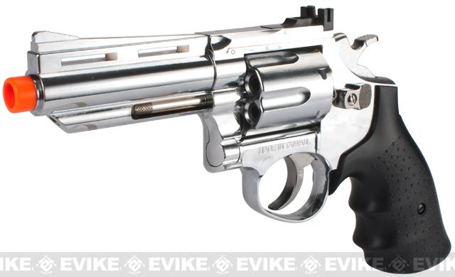 HFC 4 Bull Barrel Savage Bull Full Size Airsoft Gas Revolver (Color: Chrome)