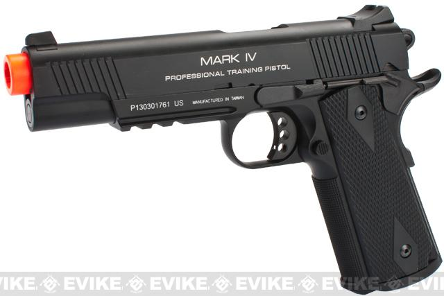 KWA Full Metal M1911 NS2 PTP w/ Railed Frame Airsoft Gas Blowback - MKIV (Color: Black)