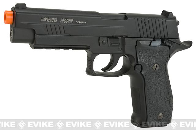 Sig Sauer X-Five C02 Powered Blowback Airsoft Pistol (Color: Black)