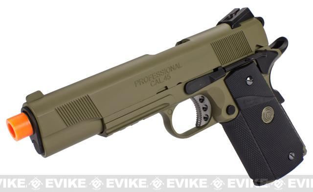 Pre-Order ETA October 2017 Socom Gear WE Full Metal 1911 Special Unit Airsoft Gas Blowback Pistol w/ Lanyard (Color: Black and Tan)