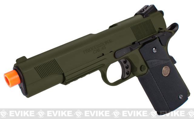 Pre-Order ETA April 2018 Socom Gear WE Full Metal 1911 Special Unit Airsoft Gas Blowback Pistol w/ Lanyard (Color: OD Green)
