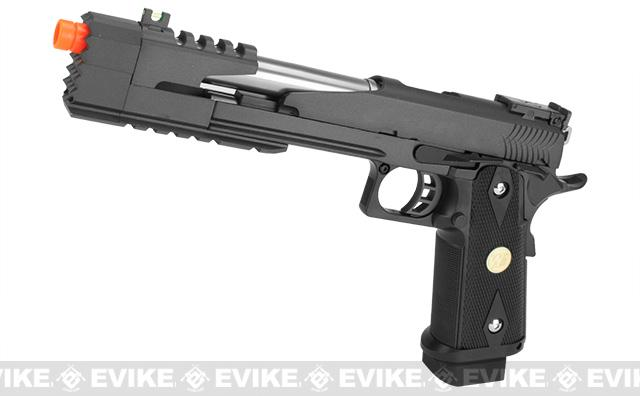 WE-Tech 7 Xcelerator Dragon Full Metal Hi-CAPA Airsoft Gas Blowback (Color: Black / Medallion Grip)