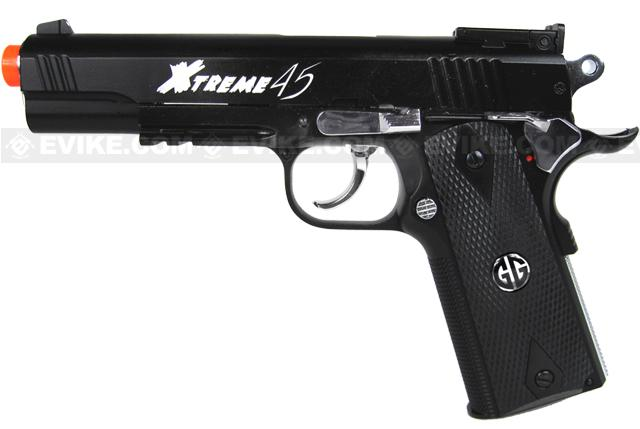 G&G Xtreme 45 Co2 Powered Airsoft Gas Pistol (Color: Black)
