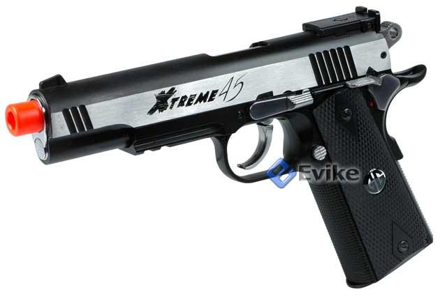 G&G Xtreme 45 Co2 Powered Airsoft Gas Pistol (Color: Two-Tone)