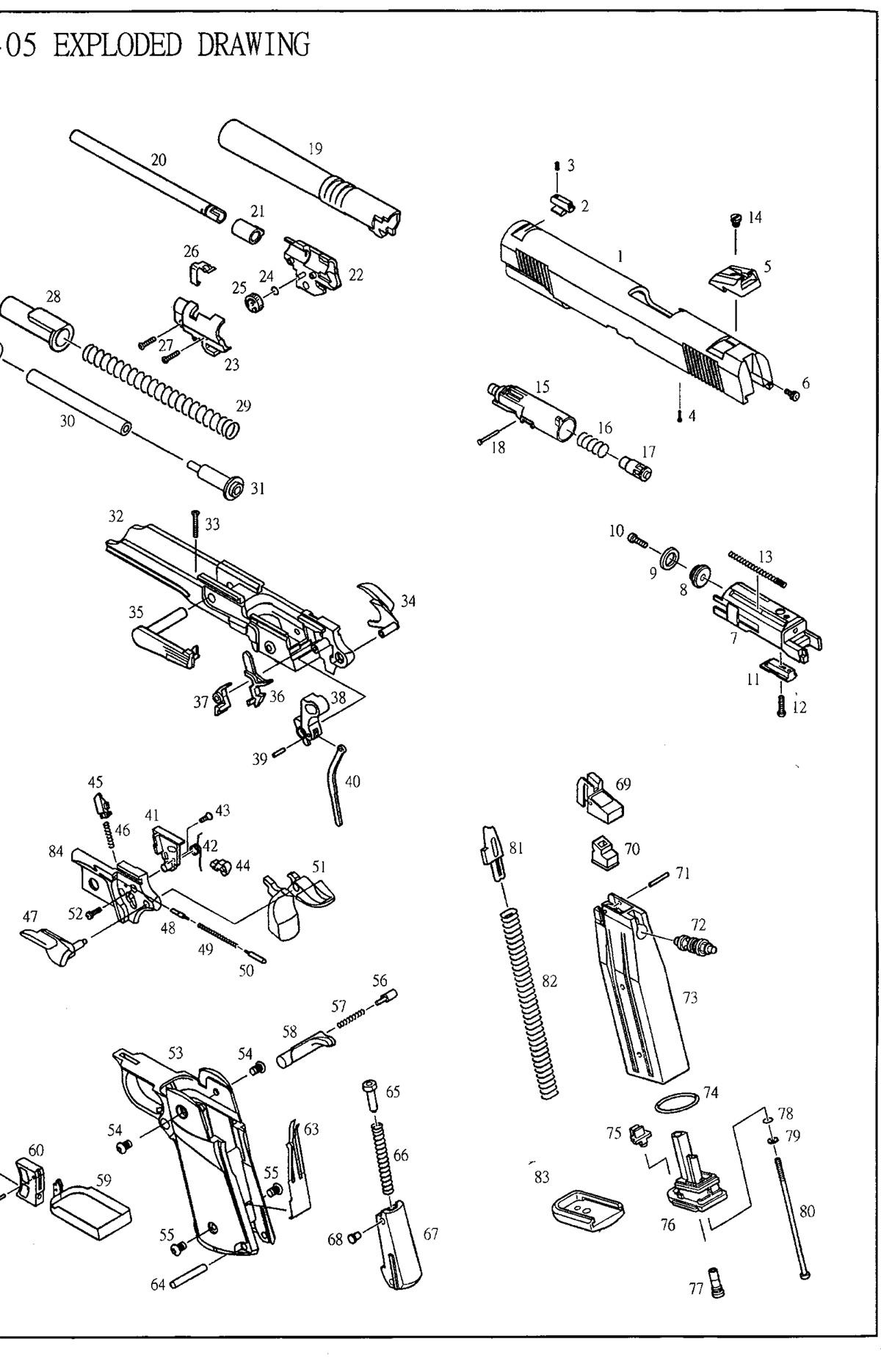 kjw 1911 exploded diagram car wiring diagrams explained u2022 rh ethermag co