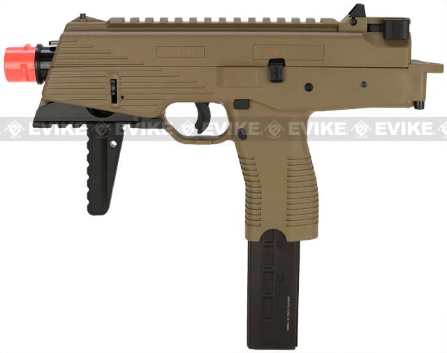 KWA KMP9 Gas Blowback Airsoft Submachine Gun (Color: Dark Earth w/ Rail)