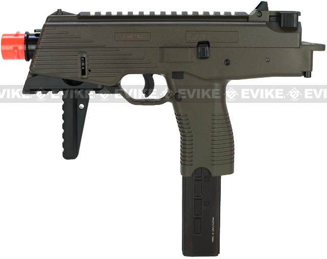 KWA KMP9 Gas Blowback Airsoft Submachine Gun (Color: Ranger Grey w/ Rail)