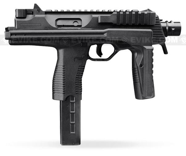 KWA KMP9 Gas Blowback Airsoft Submachine Gun (Color: Black w/ Grip)