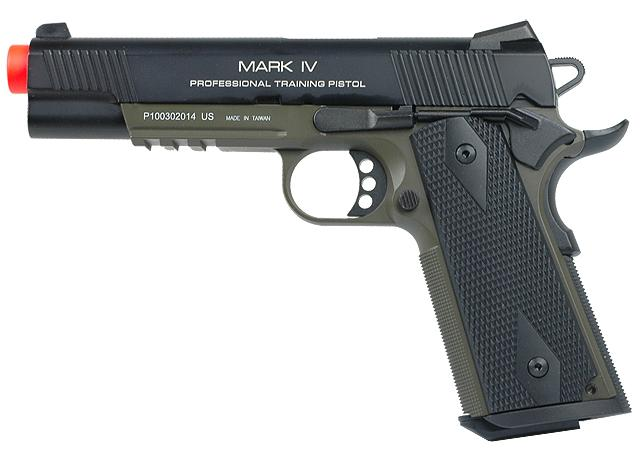 KWA Full Metal M1911 NS2 PTP w/ Railed Frame Airsoft Gas Blowback - MKIV (Color: OD Green)