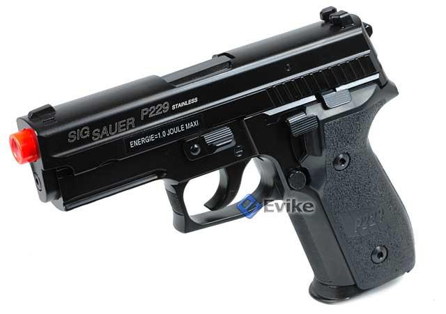 Bone Yard - SoftAir Sig Sauer Licensed KJW P229 Full Metal Airsoft Gas Blowback Pistol (Store Display, Non-Working Or Refurbished Models)