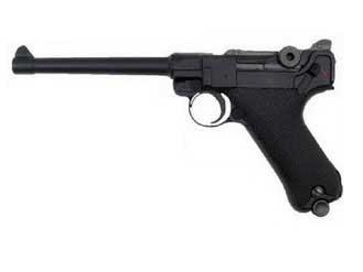 Bone Yard - WE WWII Full Size / Metal Luger Airsoft Gas Blowback - Black / Silver / 4 / 6 / 8 (Store Display, Non-Working Or Refurbished Models)