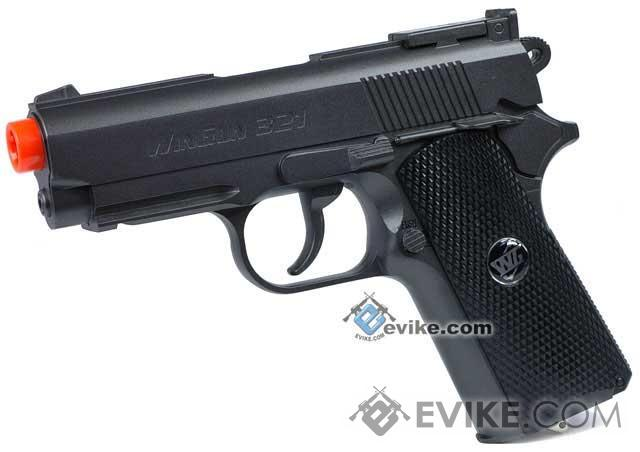 WG High Power Full Metal 1911 Compact Airsoft Co2 Powered Gas Pistol (Color: Black / Black Grip)