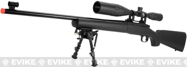 KJW 500+ FPS Full Metal M700 High Power Airsoft Gas Sniper Rifle - (Package: Add Harris Style Bipod)