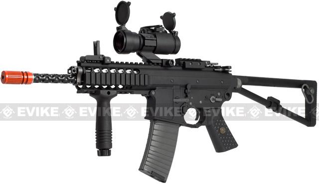 z WE PDW Carbine Full Metal Airsoft Gas Blowback GBB Rifle w/ 2 Mag - Black (New Open Bolt System)