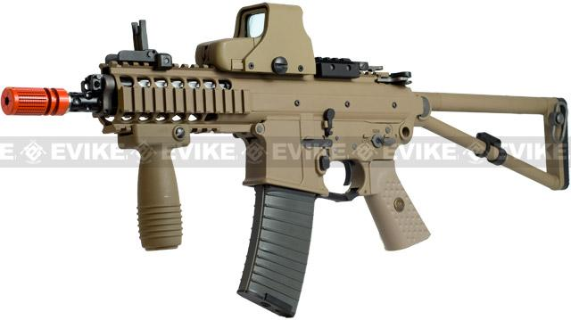 z WE PDW Compact Full Metal Airsoft Gas Blowback GBB Rifle w/ 2 Mag - Tan (New Open Bolt System)