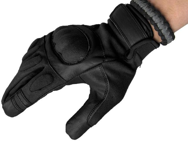 Nomex Hard Shell Knuckle Tactical Gloves - Black (Size: X-Large)