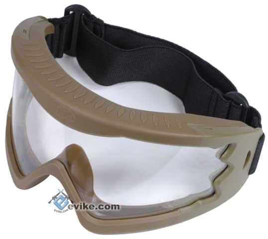 Hakkotsu High Peripheral X-Eye 260 Degree Wide Angle Goggle Set - (Tan)