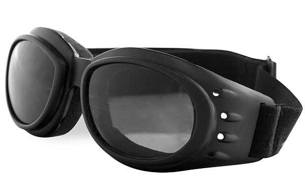 Bobster Cruiser Goggles, Black Frame, Smoke Lenses