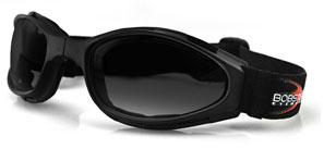 Bobster Crossfire Tactical Compact Folding Goggle / Anti-fog Smoked Lens