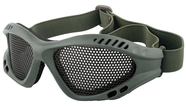 Avengers Zero Wire Mesh Adjustable Shooting Range Goggles - OD Green