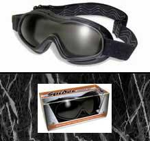 Spider Kit Smoked and Clear Anti-Fog Goggle.