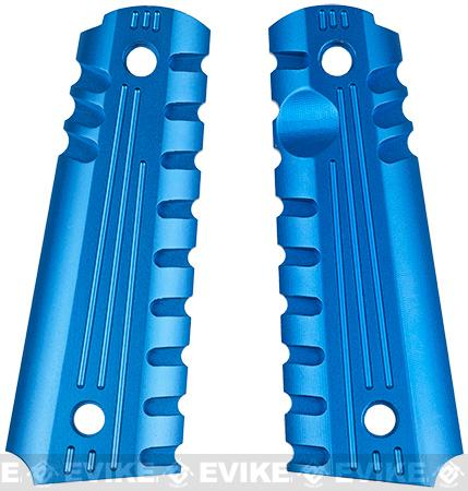 Matrix Aluminum CNC Grip for 1911 sereis Airsoft GBB (Blue)