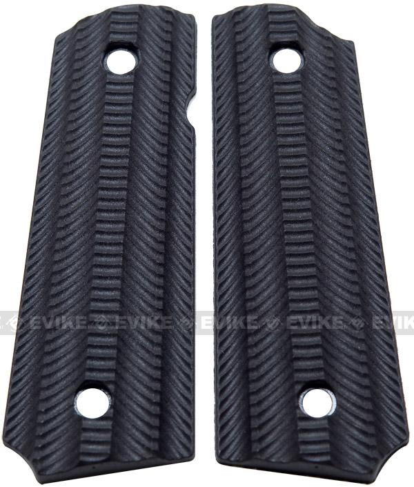 Matrix Spec. Op. Nylon Fiber Hand Grip For 1911 Airsoft Gas Blowback Pistols - Black