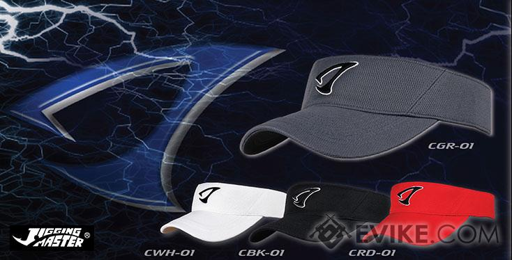 Jigging Master 3D Logo Visor Fishing Golf Cap (Color: White)
