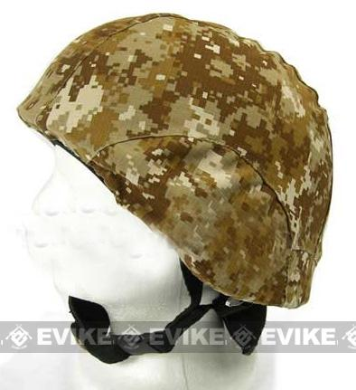 Matrix Military Style Enhanced PASGT Combat Helmet Cover - (Digital Desert)