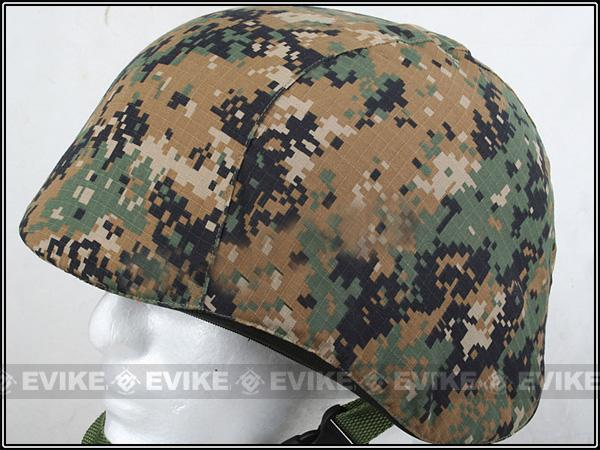 Matrix Military Style Enhanced PASGT Combat Helmet Cover - (Digital Woodland)