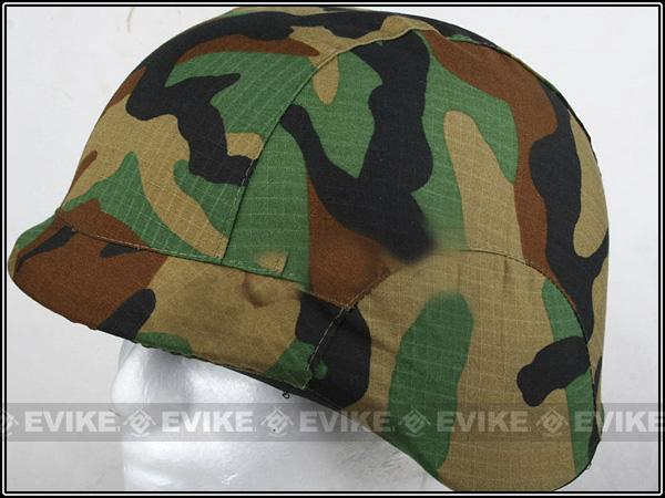 Matrix Military Style Enhanced PASGT Combat Helmet Cover - (Woodland)