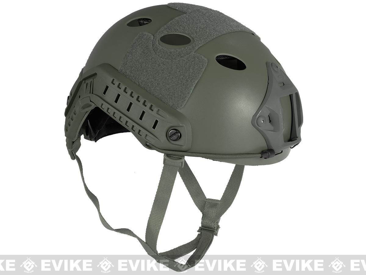 6mmProShop Bump Type Tactical Airsoft Helmet (Type: PJ / Advanced / Foliage Green)