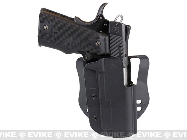 Blade-Tech Revolution Paddle Holster w/ Adjustable Belt Attachment (Model: 1911 Commander / Black / Right Hand)