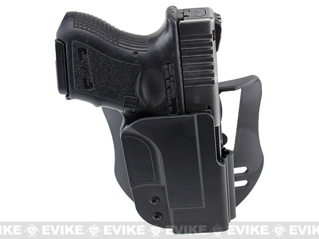 Blade-Tech Revolution Paddle Holster w/ Adjustable Belt Attachment - Glock 26 / 27 / 33 (Right Hand - Black)