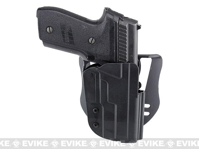 Blade-Tech Revolution Paddle Holster w/ Adjustable Belt Attachment (Model: P228 and Comparable / Black / Right Hand)