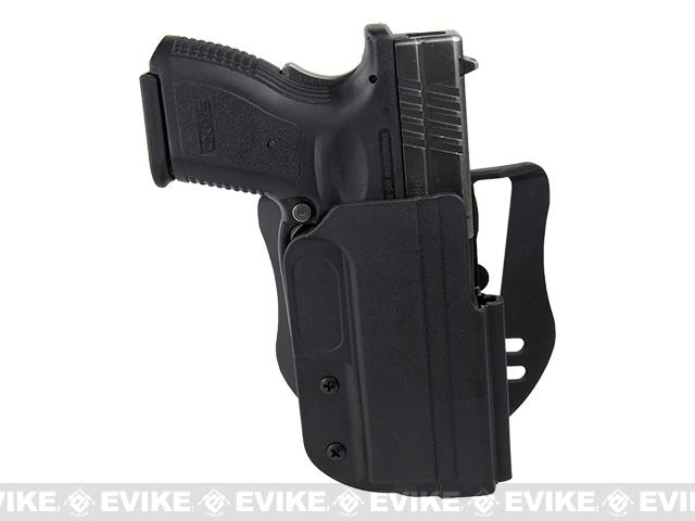 Blade-Tech Revolution Paddle Holster w/ Adjustable Belt Attachment - Springfield XD 9 / 40 4 (Right Hand - Black)