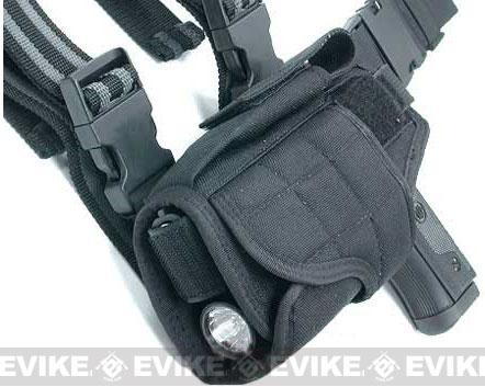 Matrix Tornado Universal Tactical Thigh / Drop Leg Holster (Black / Left)