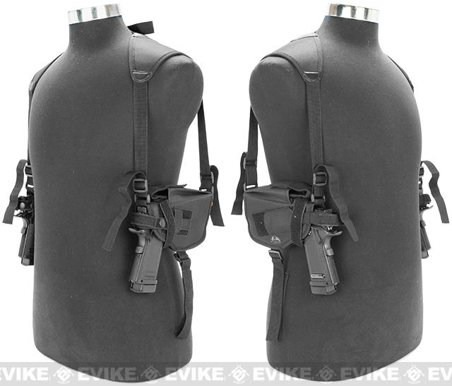 Matrix Tactical Modular Dual Pistol Shoulder Holster (Color: Black)