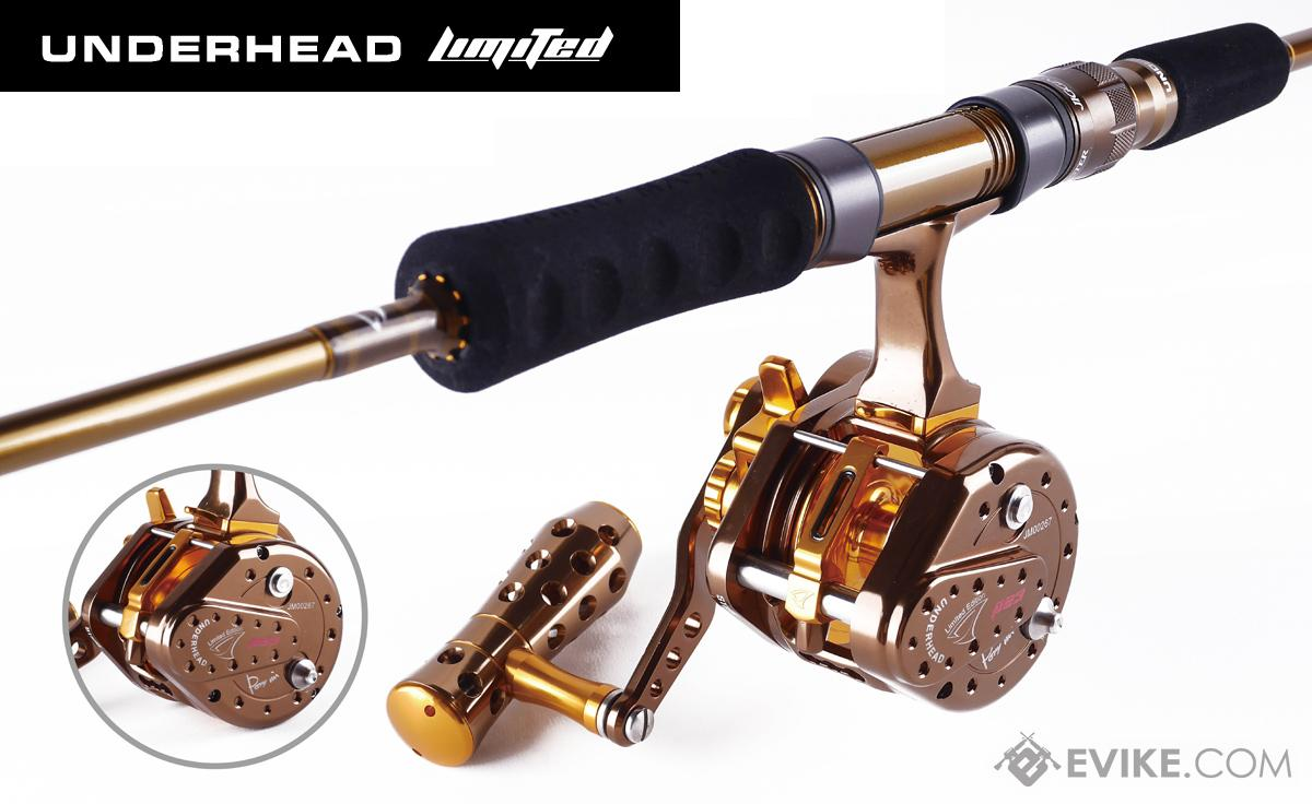 Jigging Master UnderHead Reel - Coffee Gold Limited Edition (Size: PE3)