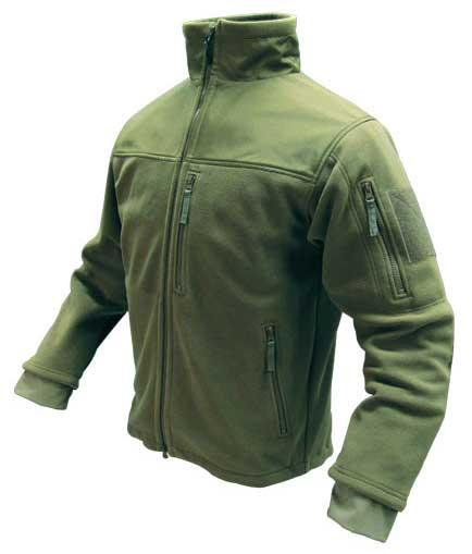 Condor Tactical Fleece Military Cold Weather Jacket - OD Green (Size: Large)