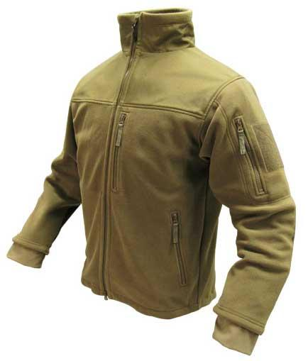 Condor Tactical Fleece Military Cold Weather Jacket - Tan (Size: Large)