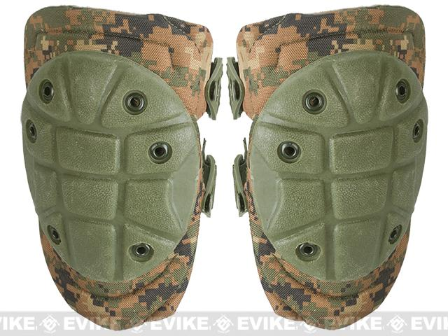 King Arms Warrior Advanced Tactical QD Knee Pads (Color: Digital Woodland)