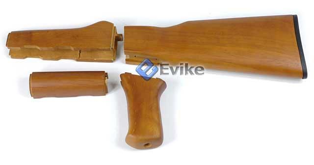 Real hard wood furniture kit for ak47 ak series airsoft aeg accessories parts external parts Ak 47 wooden furniture