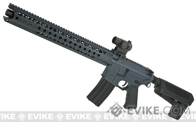 Krytac War Sport Licensed LVOA-C M4 Carbine Airsoft AEG Rifle (Model: Grey+10 Mag Bundle Deal)