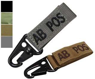 Condor  AB Positive  Blood Type Molle System Ready Key Chain - ACU