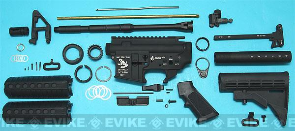 G&P Full Metal M4 WOC GBB Airsoft Gas Blowback Rifle Challenge Kit (Model: AR-15 Navy Seal Skull-Frog)